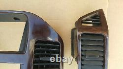 01 06 Mitsubishi Montero Limited Wood Grain Radio Vent Dash Trim Bezel Set OEM