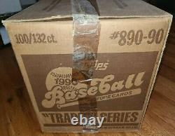 100 1990 Topps Traded Baseball Cards Complete Sets Factory Sealed Case