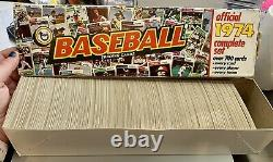 1974 Topps Baseball Near Mint Complete Set in Original Factory Box with traded set