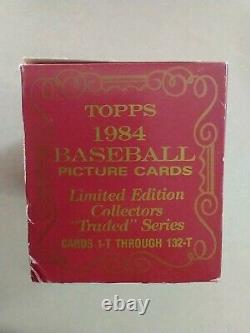 1984 Topps Traded Tiffany Set Factory Sealed 132 Card Complete Set Dwight Gooden