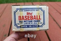 1985 Topps Baseball Factory Sealed! Complete Set. (792) Mark McGwire, Clemens RC