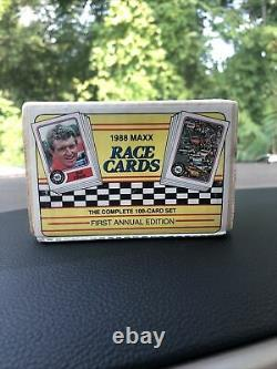 1988 MAXX RACE CARDS, FIRST EDITION, COMPLETE 100 CARD SET, Factory Sealed
