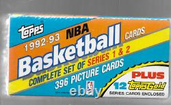 1992-93 Topps Basketball Complete Factory Sealed Set 396 Cards (j45)
