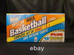 1992-93 Topps Basketball Complete Set Factory Sealed Shaq RC 10 Gold Cards