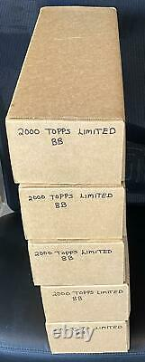 2000 Topps Limited Edition Baseball (1) Complete Factory Sealed Set 619 Cards