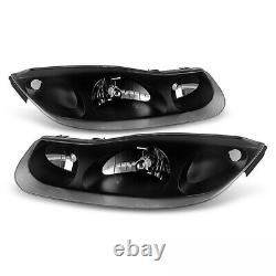 2001 2002 Saturn SC Series SC1 SC2 BLACK OUT Complete Headlight Assembly LH+RH