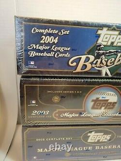 2002 2003 2004 Topps Baseball NEW Complete Sets Factory Sealed Cards