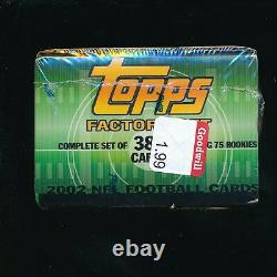 2002 Topps Football Factory Sealed Set Complete 385 Card 1st Tom Brady Topps