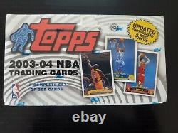2003-04 Topps Basketball Factory Sealed Complete Set Guaranteed Lebron Rookie