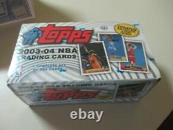 2003-04 Topps Basketball Factory Sealed Complete Set LeBron, Wade, Bosh, Melo RC