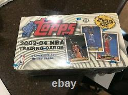 2003-04 Topps Basketball Factory Sealed Complete Set With Lebron James Rookie RC