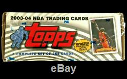 2003-04 Topps Basketball Factory Sealed Complete Set withLebron James Rookie Card