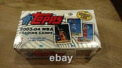 2003-04 Topps Basketball Factory Sealed Set, Complete #1-265, Lebron James RC