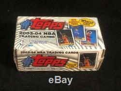 2003-04 Topps FACTORY SEALED Basketball Complete Set 265 Cards Lebron James