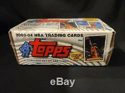 2003-04 Topps Factory Sealed Nba Complete Set Lebron James Rookie Rc Card
