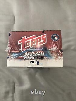 2018 Topps Baseball Complete Series 1&2 Factory Sealed Hobby Factory Set Acuna