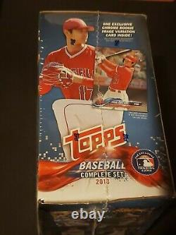 2018 Topps Complete Baseball Factory Set Rookie Chrome Edition Ohtani Devers