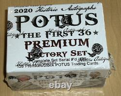 2020 Historic Autographs POTUS First 36 complete factory sealed 126-card set 499