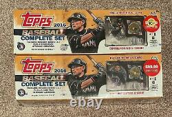 (2) 2016 Topps Baseball Card Factory Sealed Complete Set Ichiro Relic Cards