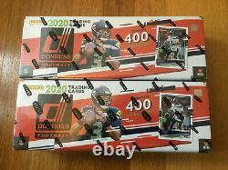 2 2020 Donruss Football Factory Sealed Box Complete 400 Card Set 50 Rated Rookie