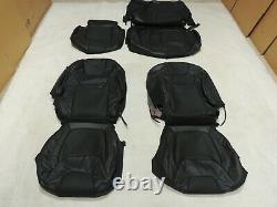Factory Take-Off Leather Seat Covers Fits Ford F150 Crew XLT 2015-2018 Black A1