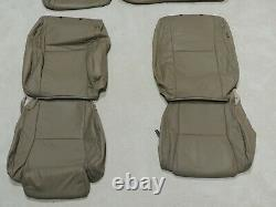 Factory Take-Off Leather Seat Covers Fits Toyota Tundra Crewmax 2007-13 Tan K32