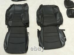 Factory Take-Off Leather Seat Covers Ram Crew 1500 2500 3500 2011 2012 Black A82