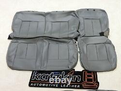 Factory Take-Off Seat Covers Fits Ford F250 F350 Crew XL Vinyl Grey 2011-2016 8