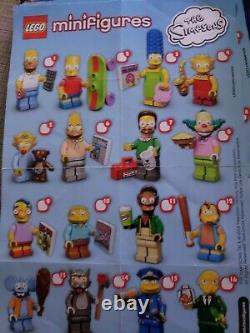 LEGO CMF Collectible Minifigures Series 1 Simpsons Complete Set 16 Sealed 71005