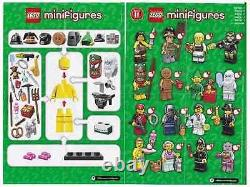 Lego minifigures series 11 (71002) complete unopened set x 16 new factory sealed