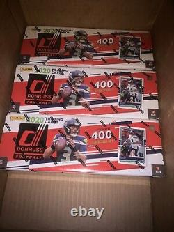 (Lot Of 3) 2020 Donruss Football Factory Sealed Box Complete Set 400 Cards