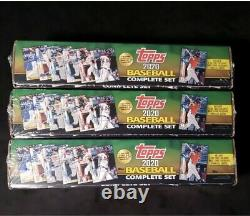 Lot of 3 2020 TOPPS BASEBALL COMPLETE FACTORY SET Series 1 and 2 700 cards