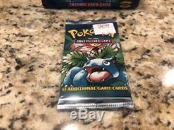 Pokemon Base Set Booster Packs Complete Art Set of 3 Factory Sealed with Box