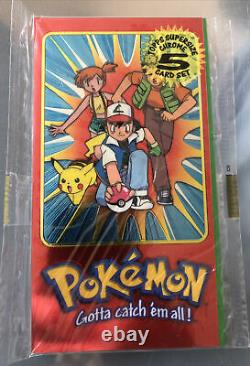 Pokemon Topps Chrome Supersize 5 Card Complete Set Series 2 Ex Factory Sealed