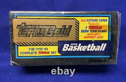 Rare 1992-93 Topps Gold Factory Sealed Basketball Complete Set +7 Beam Team Gold