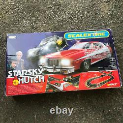Scalextric Starsky & Hutch Slot Car Race Set Barely Used in Factory Box COMPLETE