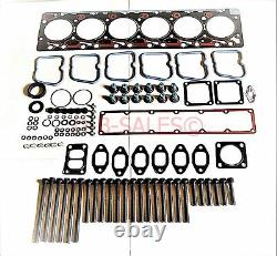 UPPER Gasket KIT with THICK. 020 Head Gasket + BOLTS for Cummins 89-98 12V 5.9 6BT